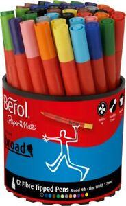 Berol Colourbroad Marker Tub 42-Assorted