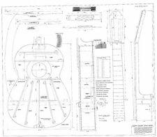 Classical Guitar  Plans Bouchet    GUITAR PLANS  - Full scale