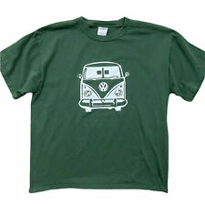 New listing Retro Volkswagen Van Mens T-Shirt Large Green Short Sleeve Surf Beach Cotton