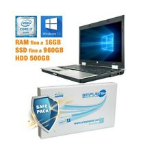 "COMPUTER NOTEBOOK HP ELITEBOOK 8540P I7 Q720 15,6"" NVIDIA WINDOWS 10 GRADO B-"
