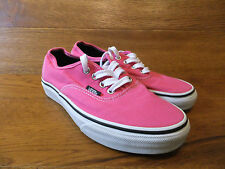Vans Authentic Vivid Pink Canvas Trainers Size  UK 4 EUR 36.5