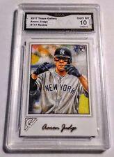 Aaron Judge RC 2017 Topps Gallery #117 GMA Graded 10 NY Yankees Baseball Rookie