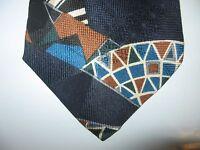 SHARPER IMAGE TIE 58 x 3.75 Black Blue Green SILK Necktie (12984) Free US Ship