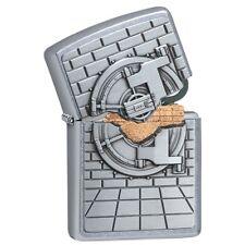 Zippo 29555, Emblem, Bank Vault Surprise-Gold, Street Chrome Finish Lighter