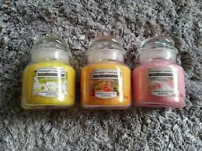 Yankee Candles Small Jars x 3
