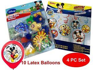 Disney Mickey Birthday Party Supplies Balloons Decorating 4PC Lot SHIPS FREE