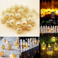 20 LED FAIRY LIGHTS BALLS WIRE STRING LIGHT AA BATTERY POWERED PARTY XMAS DECOR