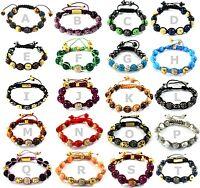 Crystal Shamballa Charm Bracelet Alloy Disco Balls Gift Jewellery +Skull Designs