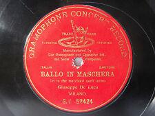 78rpm GIUSEPPE DE LUCA - Eri Tu (Ballo in Maschera) - RARE G&T MILANO 1903