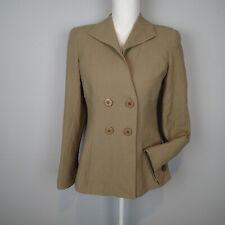 Giorgio Armani Collezioni Tan blazer Womens Size 6 Italy wool bl  b9
