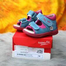 SUPERFIT - Gr.18 Baby Mädchen Leder Sandalen Schuhe blau Klett 4-00096-94 NEU