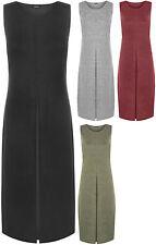 Patternless Tunic Regular Size Sleeveless Dresses for Women