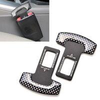 2pcs Carbon Fiber Car  Sicherheitsgurt Gürtelschnalle Alarm Stopper Clip Clamp