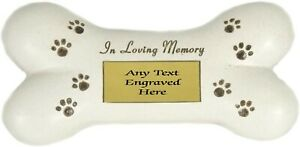 Personalised Graveside In Loving Memory Dog Bone Plaque Other Styles Available