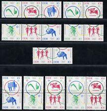 346)DDR Mi.-Nr. 1039-44 Olympische Sommerspiele 1964, 10 postfrische Zdr.!!