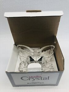 """Fine Crystal 3.5"""" Covered Butterfly Box Amore Collection by Studio Crystal New"""
