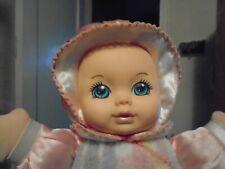 1996 Playskool Baby Doll SNUZZLES Plaid Pastel Flannel Squeaker Satin Vinyl Face