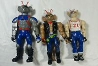 Vintage Galoob 1993 Biker Mice From Mars Action Figure Lot of 3