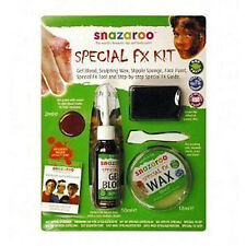 SNAZAROO Special FX Horror Halloween Face Paint & Wound Kit (fake stage blood)