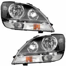 FLEETWOOD STORM 2011 2012 2013 BLACK PAIR HEADLIGHTS HEAD LAMPS FRONT LIGHTS RV