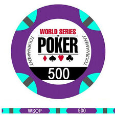 Fiches Ceramica WSOP World Series of Poker Valore 500
