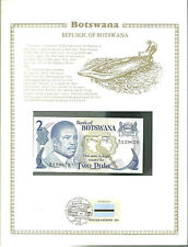 Botswana 2 PULA Banknote WORLD CURRENCY COLLECTION Paper Money UNC Stamp MINT