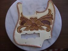 Tooled leather Pickguard for Fender Jazz Bass