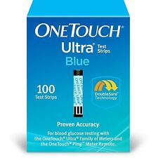 "One-Touch Ultra Blue test strips 100 CT New in box  Exp 12/31/2019  ""FREE SHIP"""