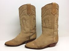 VTG WOMENS SEYCHELLES COWBOY LEATHER LIGHT BROWN BOOTS SIZE 7