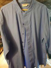 Blue Chef Works Short Sleeve Xl Button Up Coat Chefs Kitchen