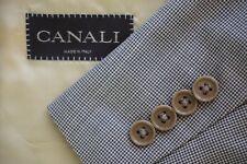 Canali Brown Label Beige Brown Houndstooth Wool Sport Coat Jacket Sz 44R