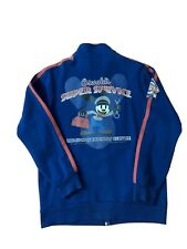 Disney Parks OSWALD'S Super Service Full Zip Track Jacket Navy Blue Mens Medium