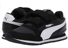 Puma ST Runner V2  Kids Strap Sneaker Toddler Shoes Kids Shoes Kid, Black/White