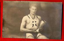 DENMARK J. JUHARNES Wrestler MAN SEMI NUDE VINTAGE PHOTO POSTCARD 530