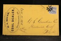 Maryland: Hagerstown 1869 #114 Boyer Coal Dealer Advertising Cover