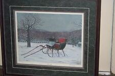 Bobs's Sleigh artist Kelly E. Royal Jr Signed ,numbered and framed print