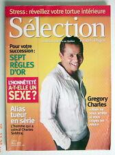 SÉLECTION DU READER'S DIGEST DE MARS 2006, EN COUVERTURE GREGORY CHARLES