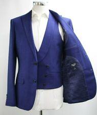 Herren Penguin Slim Fit Blazer & Weste in blau (38r)... - 6363