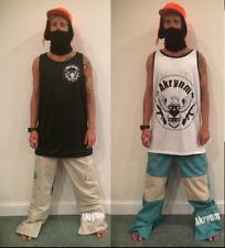 """Akrynm Tall Hoodie Ski / Snowboard Pants - Tan/Green-""""Reversible Pant""""-Size S/M"""