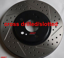 Fits Lexus IS250 C Slotted Or Cross Drilled Rotors Akebono Pads Front Rear Set
