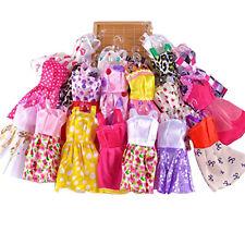 10pcs Barbie Doll Fashion Princess Dresses Outfit Party Wedding Clothes Gown US