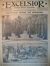WW1 N° 2209 TROUPE RUSSIE EN BUKOVINE BELGIQUE ECOLIERS JOURNAL EXCELSIOR 1916