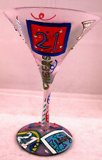 Lolita Hand Painted 21 Birthday Martini Glass Happy Legal Age Cheers Recipe