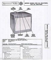 Service Manual 1955 Photofact Schematic METEOR 4104 528.37000 4121 528.37100 TV