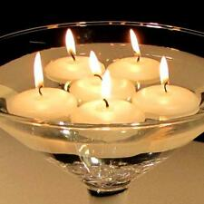 20 Ivory Floating Candle Room Table Centrepiece Pool Pond Bath 6-7hr burn time