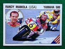 SUPERSPORT 1986 n 120 RANDY MAMOLA USA Yamaha 500 , Figurina Sticker Panini NEW