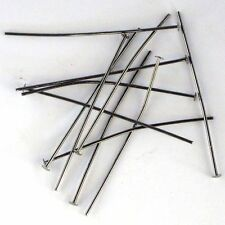 100 pieces  Head Pins Black Nickel 38mm  Bulk Pack