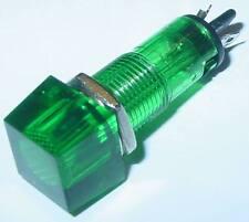 Signal éclairage, vert, 12mm rectangulaire, coiffe étanche, 12vdc, d73