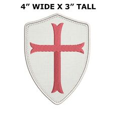 Knight Templar Cross Embroidered Patch Iron / Sew-On Religious Applique