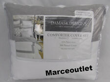Charter Club Damask Designs Colorblock FULL / QUEEN Duvet Cover & Shams Dove